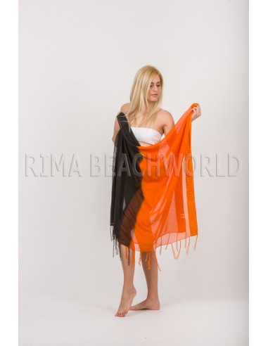 PAREO CHIFFON WITH KNITTED DETAILS