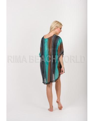 NAVY DRESS  VISCOSE-LYCRA