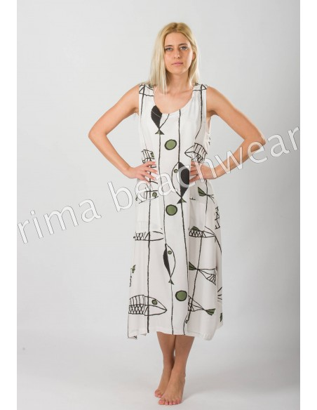 MIDI VISCOSE  SUMMER DRESS