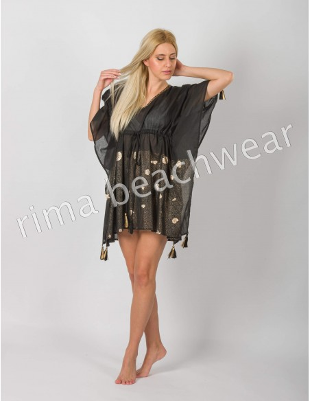 PONCHO COTTON WITH TASSELS